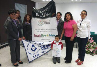 Certifica CEDH a Cendis como libres de bullying