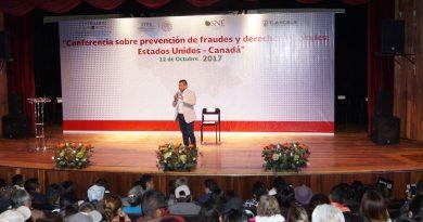 """Realiza SEPUEDE conferencia """"Prevención de fraudes y derechos laborales, Estados Unidos-Canadá"""""""