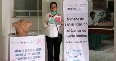 Inaugura Sandra Chávez actividades de la Semana de Sensabilización en Cáncer de Cuello Uterino