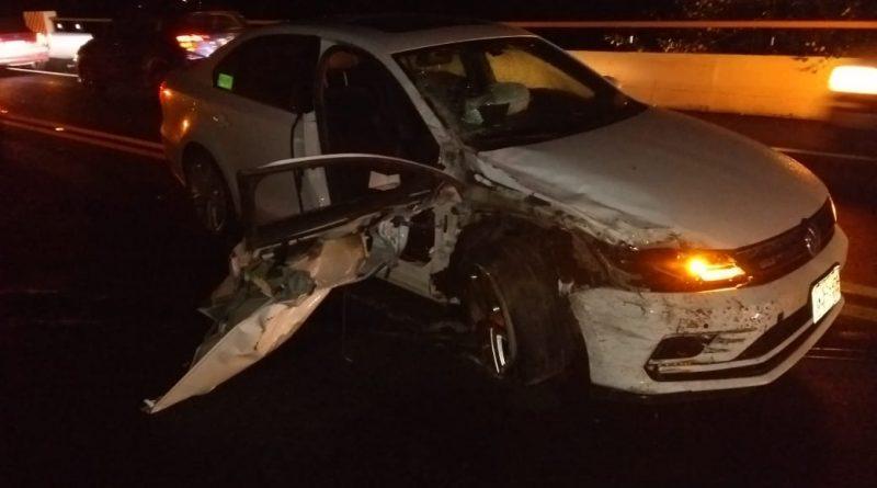 Tres lesionados deja choque en la Autopista Tlaxcala-Puebla