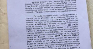 Denuncian penalmente a la Directora General del COBAT