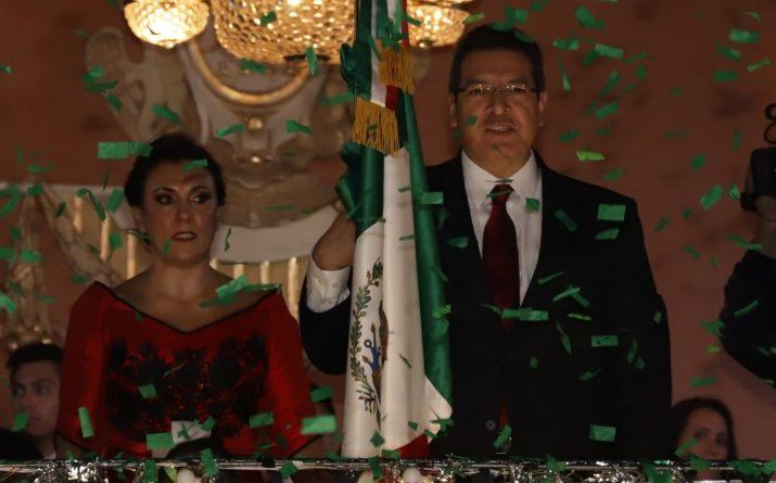 Encabeza Marco Mena Ceremonia del Grito de Independencia
