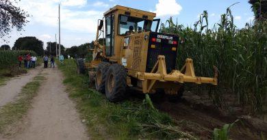 Respalda SECODUVI a municipios con préstamo de maquinaria para trabajos en zonas agrícolas y urbanas