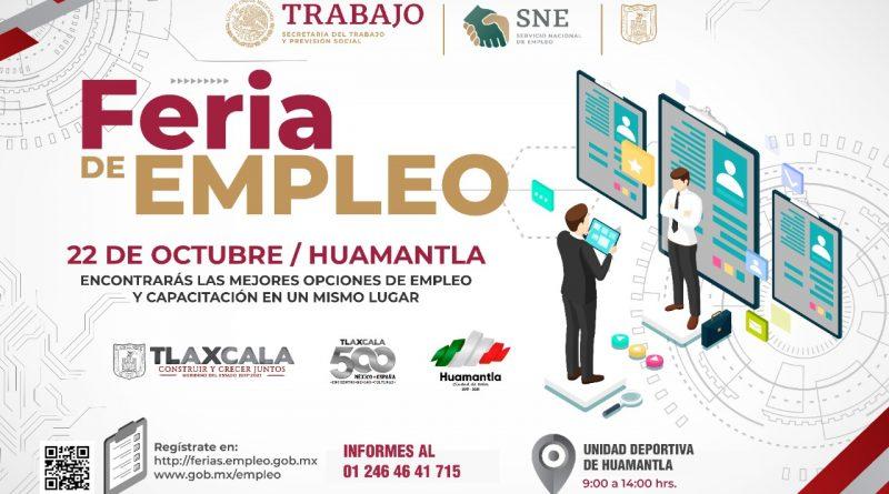 Alistan SEPUEDE y SNE Feria de Empleo en Huamantla