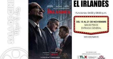 """Estreno de """"El Irlandés"""" en la Sala de Cine Miguel N. Lira"""
