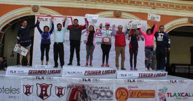 Triunfan hermanos Nava Aguila en la Carrera de la Feria Tlaxcala 8K