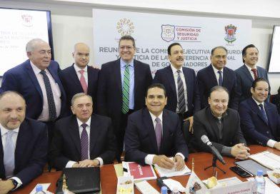Marco Mena participa en reunión de seguridad de CONAGO con Alfonso Durazo