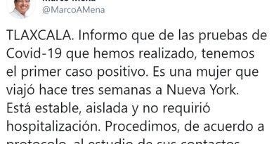 Confirma SESA primer caso de COVID-19 en Tlaxcala