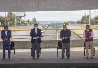 Presidente AMLO y Marco Mena inaugura paso vehicular Ocotoxco