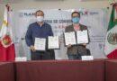 Signan SEDECO, SEPUEDE e ICATLAX convenio para implementar firma electrónica