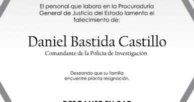 Lamenta PGJE fallecimiento de comandante de policía de investigación durante accidente en Tetla