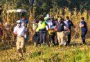 Rescatan a campesino de maquinaria agrícola