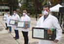 Marco Mena atestigua entrega de condecoración «Miguel Hidalgo» a personal médico de Tlaxcala