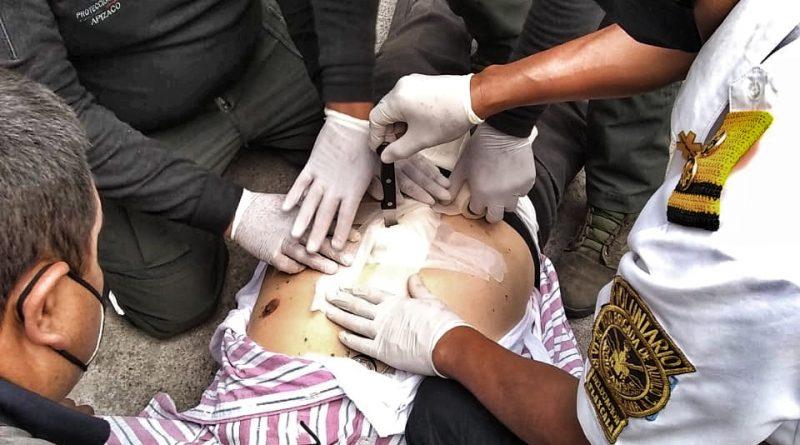Moviliza a cuerpos de emergencias «apuñalado» en Apizaco