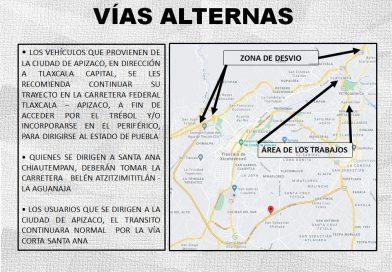 SECODUVI, SSC y CEPC recomiendan tomar vías alternas en el Viaducto San Pablo-Apetatitlán del 17 al 19 de mayo