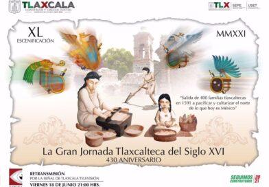 Retransmitirán escenificación de La Gran Jornada Tlaxcalteca del Siglo XVI