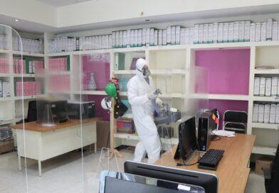 Realizan acciones de desinfección en oficinas de la SEPE-USET