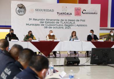 Encabezó Lorena Cuéllar Tercera Mesa para la Construcción de la Paz y Seguridad Región I